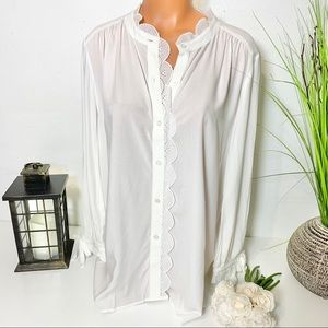 LOFT Tops - LOFT BUTTON DOWN LONG SLEEVE TOP